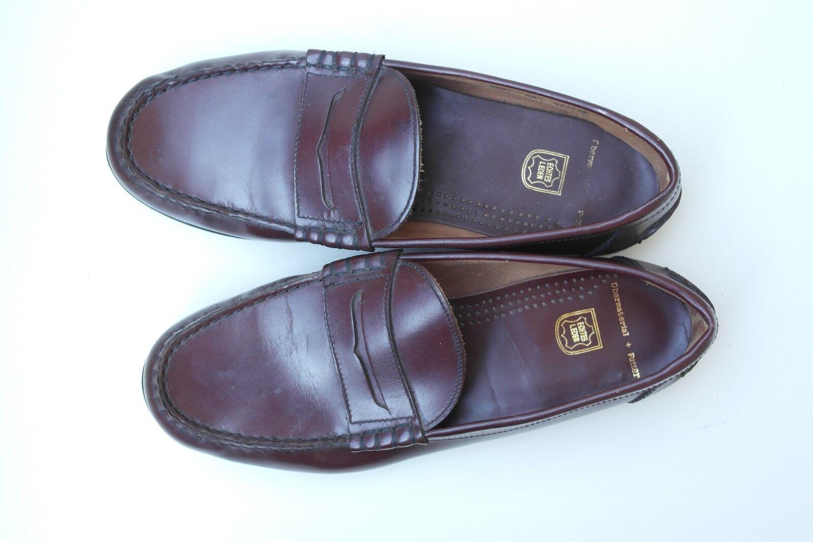 TRUE VINTAGE Herren Schuhe Halbschuhe NOS Halbschuhe Schuhe Slipper EUR 46 TRUE VINTAGE UK 11,5 36d924
