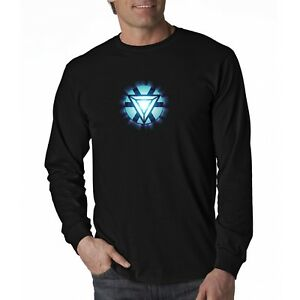 9dfb97d0f Iron Man Tony Stark Arc Reactor Long Sleeve T-Shirt Ready to ship ...
