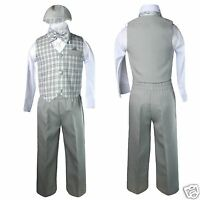 Baby Boy & Toddler Easter Wedding Formal Vest Suit Gray Sz:s,m,l,xl,2t,3t,4t