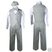 Baby Boy & Toddler Easter Wedding Formal Vest Suit Gray Sz:s,m,l,xl,2t,3t,4t
