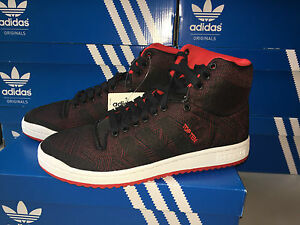 Adidas originali top ten - tessuti di scarpe da uomo rosso.