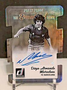 2016-17 Panini Donruss Soccer Diego Maradona /25 Auto Barcelona Autograph SSP