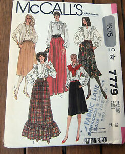 Oop-McCalls-7779-Misses-Gathered-Skirts-ruffles-size-18-NEW