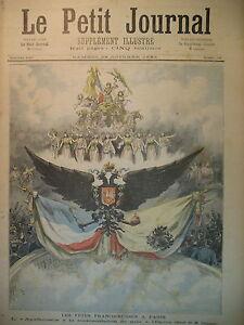 RUSSIE-FETE-FRANCO-RUSSE-CARROUSSEL-GALA-DE-L-039-OPERA-PARIS-LE-PETIT-JOURNAL-1893