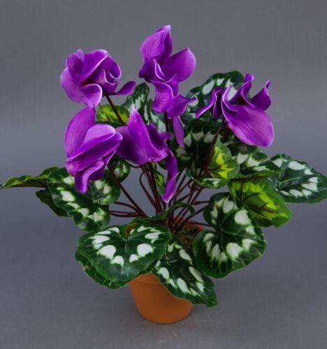 Alpi le violette viola 36cm in vaso ZF arte arte piante fiori fiore artificiale