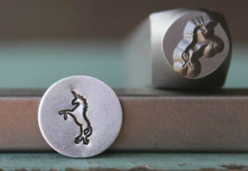 SUPPLY GUY 8mm Unicorn Metal Punch Design Stamp SGCH-149