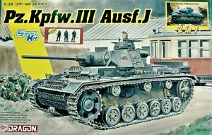 Dragon-6954-1-35-Pz-Kpfw-III-Ausf-J-Initial-Early-Prod-2in1-w-3-figures