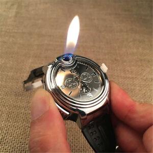Details about Military Cigarette Cigar Lighter Watch Men Quartz Refillable  Wrist Watches New