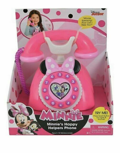 Disney Junior Minnie Mouse Happy Helpers Phone BRAND NEW Lights and Sounds