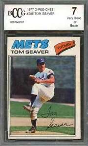 Tom-Seaver-Card-1977-O-Pee-Chee-205-New-York-Mets-BGS-BCCG-7