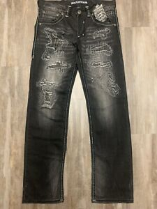 NEW-NWT-AFFLICTION-135-MENS-BLAKE-RELAXED-STRAIGHT-JEANS-DURANGO-GRAY-32-x-34