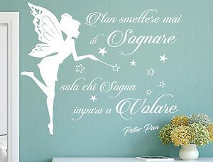 Adesivi Murali Peter Pan.Dettagli Su Adesivi Murali Frasi Citazione Non Smettere Mai Di Sognare Peter Pan Stickers