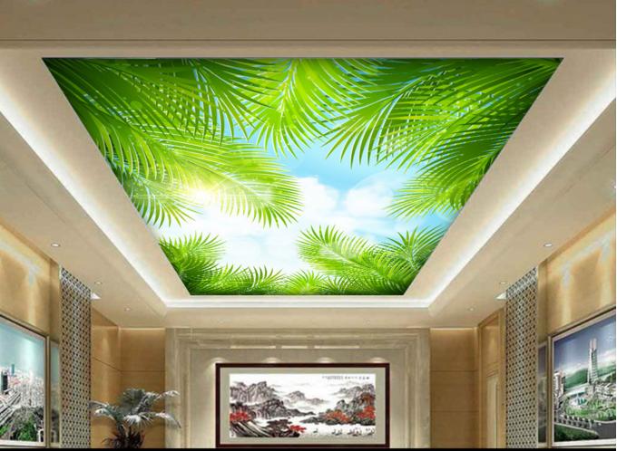 3D Grün Plants 6 Ceiling WallPaper Murals Wall Print Decal Deco AJ WALLPAPER UK