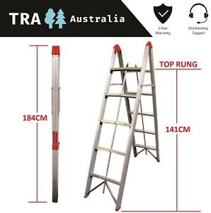 TRA-5-STEP-COLLAPSIBLE-PORTABLE-LADDER-CARAVAN-RV-STEP-FAN-JAYCO-ACCESSORIES-BOX