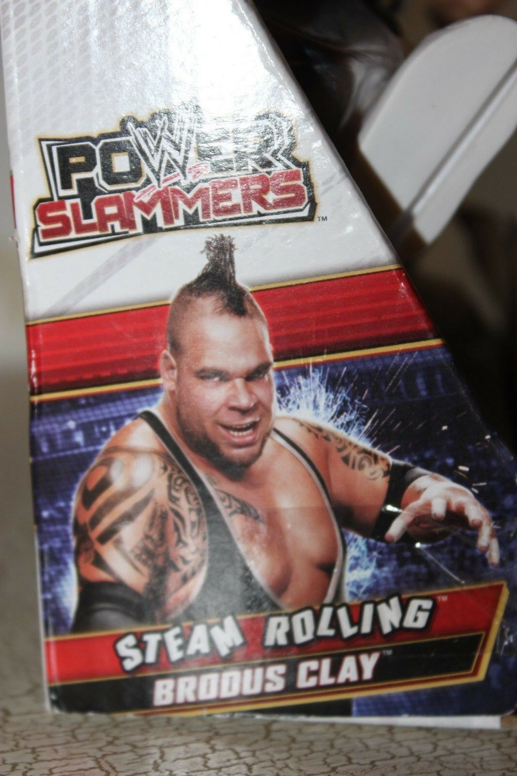 WWE Power Slammers Steam Rolling Brodus Clay Clay Clay Motorised Figure Year 2012 e339ea
