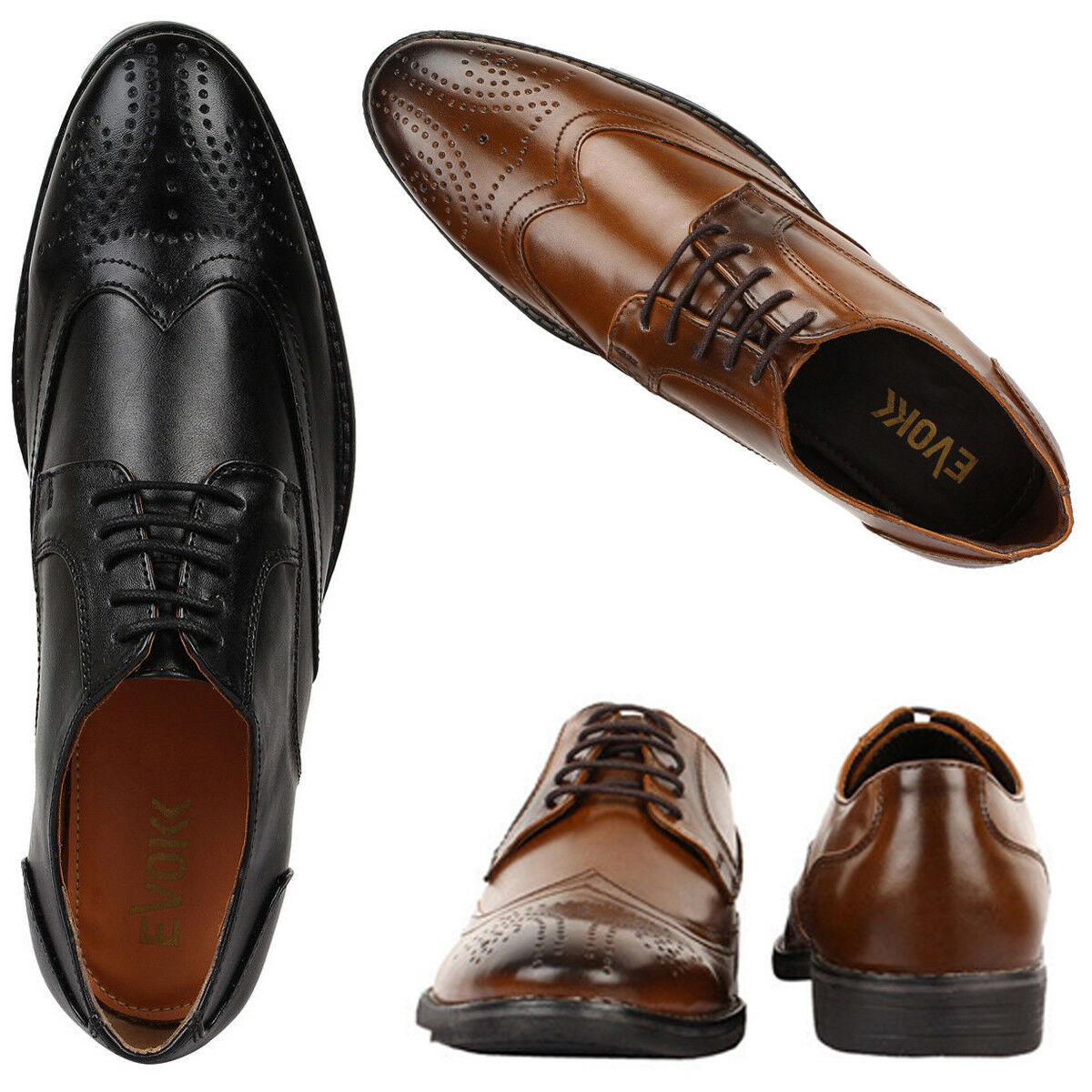 New Men's office BROGUE Style Shoes Formal Smart Casual Italian office Men's Leather ( 004) 6da135