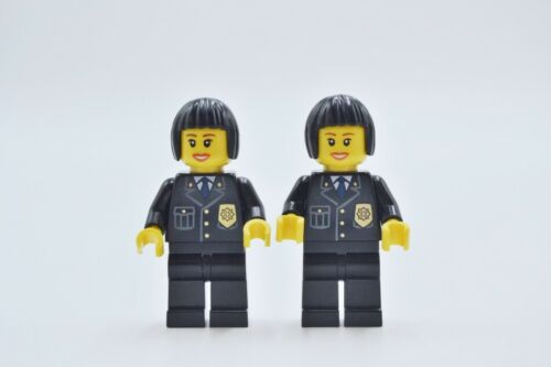 LEGO 2 x Figur Minifigur City Town Polizistin police cty211 aus Set 7498