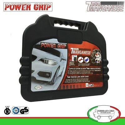 Catene Neve Power Grip 12mm SUV Gruppo 225 per gomme 185//75r16 Fiat Ducato