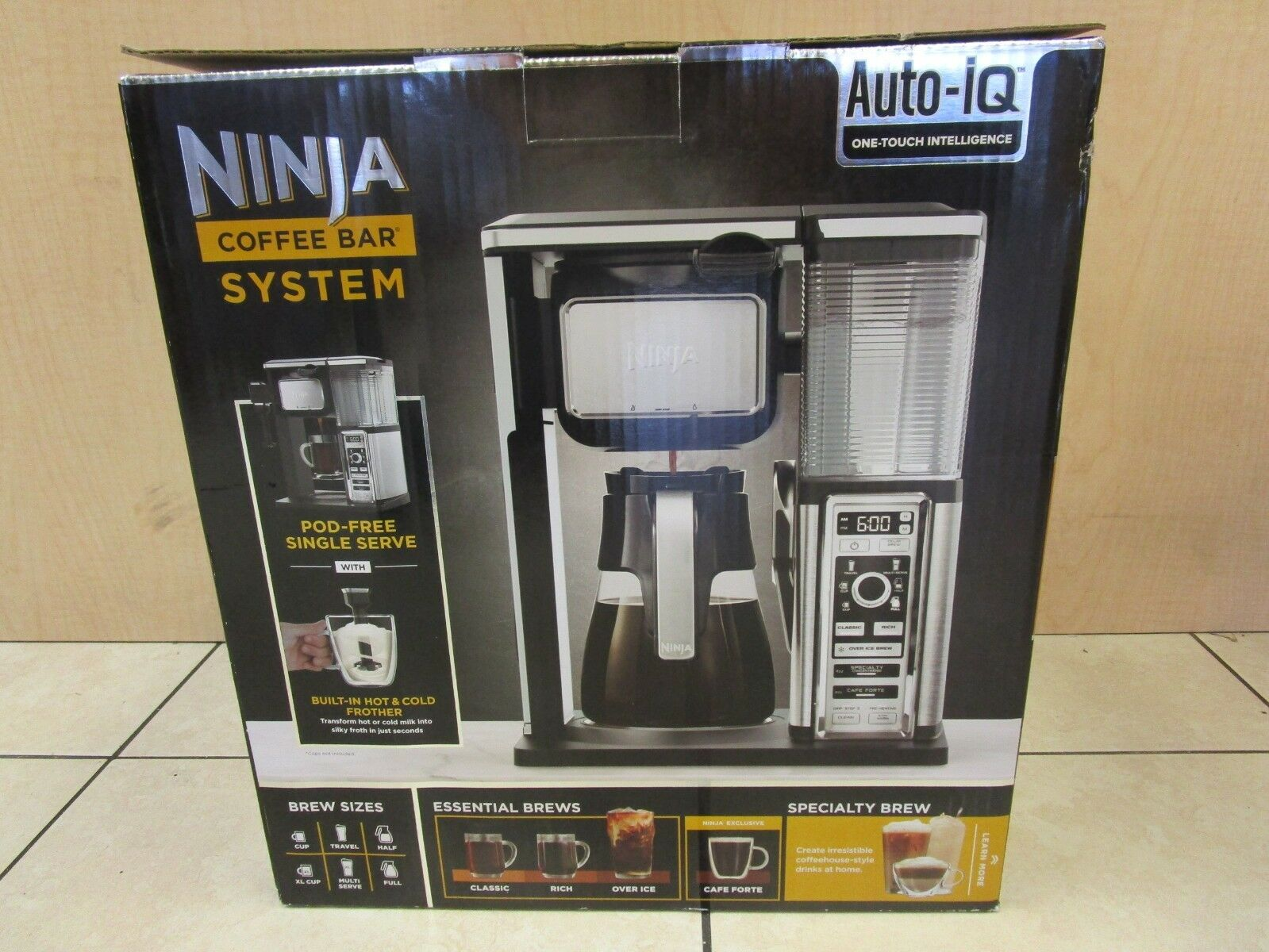 Ninja Coffee Bar System Auto-IQ    NEW CF090 CF4