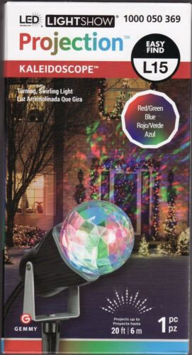 """RED//GREEN//BLUE  /""""MULTI/""""  Projection  LED  Light Show  /""""KALEIDOSCOPE/""""   by  Gemmy"""