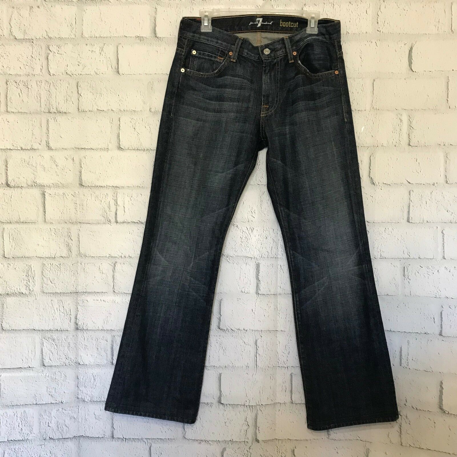 7 for All Mankind Womens Size 29 Jeans Boot Cut 31 Inseam Stretch Denim FAM