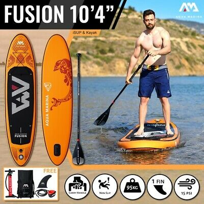 3a6047f7882adb 2019 Aqua Marina Fusion iSUP Inflatable SUP 10ft (3.15M) Stand Up Paddle  Board. 1/10