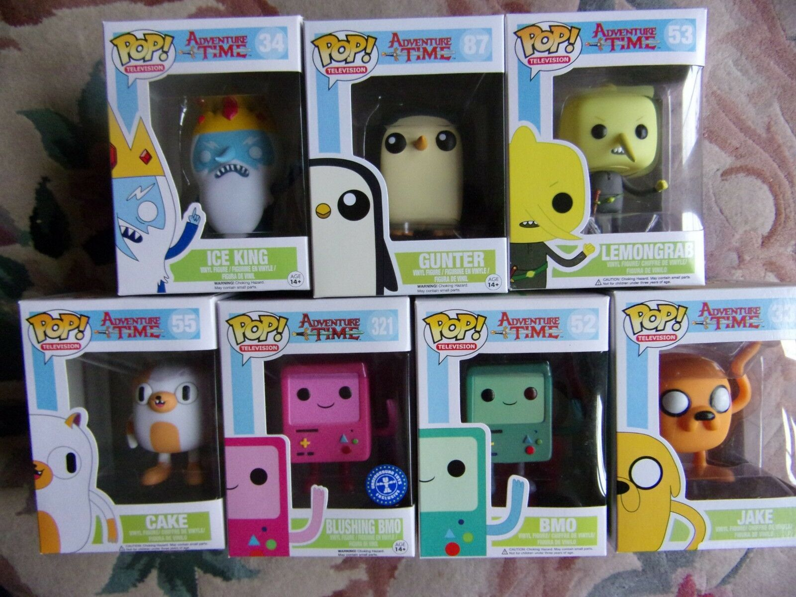 Funko Pop  Adventure Time Vinyl Figure Jake Ice King BMO Gunter , Cake Marceline