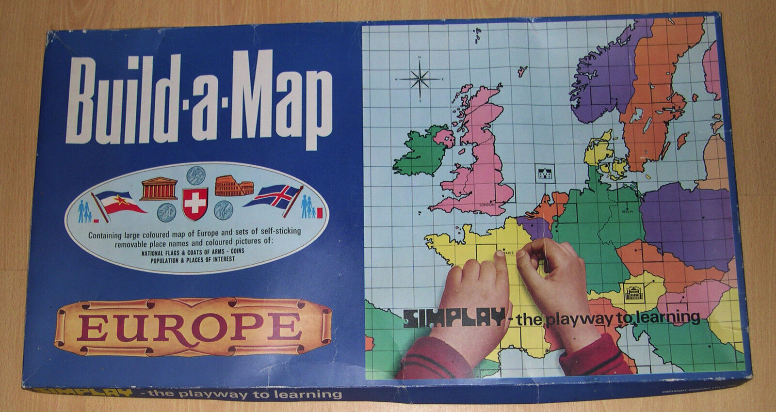 Build A Map Europe by Simplay Games - Unopened Still Sealed 1969 EXTREMELY RARE
