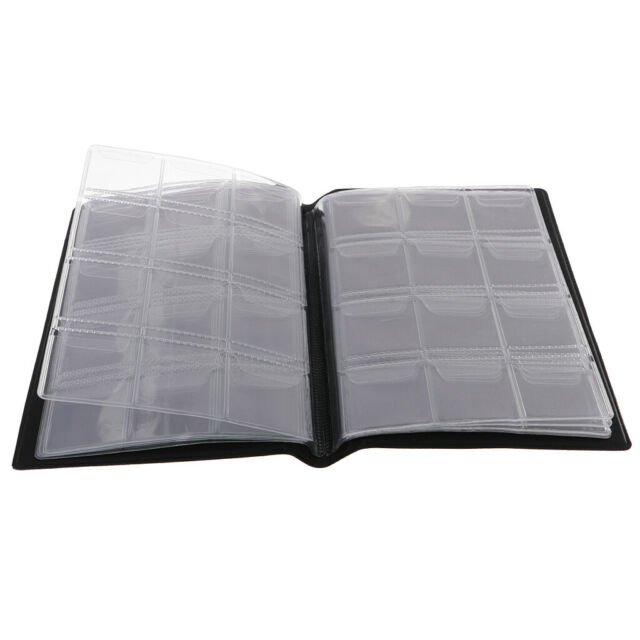 120 Pockets Coins Album Collection Book Commemorative Coin Holders Black #GB