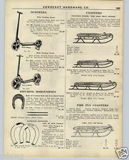 1926 PAPER AD Flexible Flyer Snow Sled Coaster Fire Fly Blue Streak Scooter