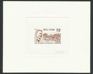 NEW-CALEDONIA-1988-72f-BAUDOUX-034-SIGNED-ARTIST-PROOF-034-ON-CARD-SEAL