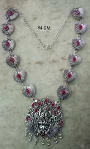 Fashion Jewellery Indian Women Silver Oxidized Peacock Necklace Set Fashion Jewelry Bihu Trible