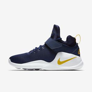 premium selection 499d3 44005 Image is loading Nike-Kwazi-844839-401-Men-Basketball-Shoes-Navy-