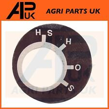 Massey Ferguson 35 65 135 835 FE35 Tractor Ignition Switch Position Key Plate
