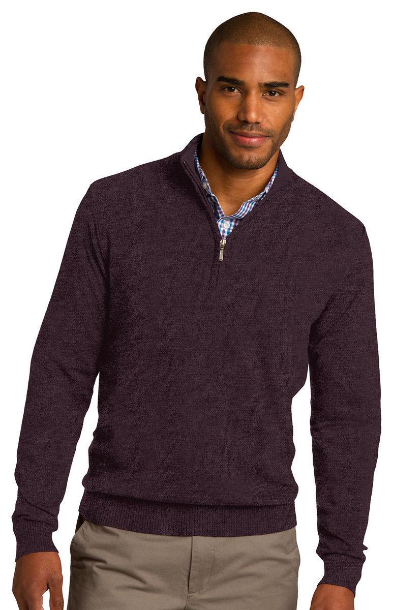 Port Authority Men's Long Sleeve Casual 1 2 Zip Winter Sweater XS-4XL. SW290