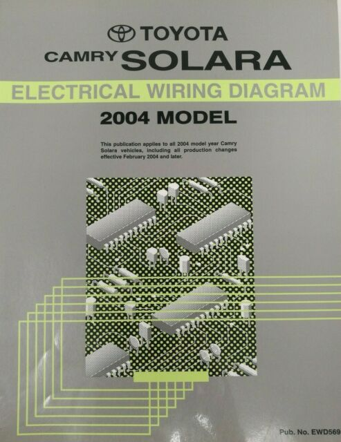 2004 Toyota Camry Solara Electrical Wiring Diagram Repair Manual