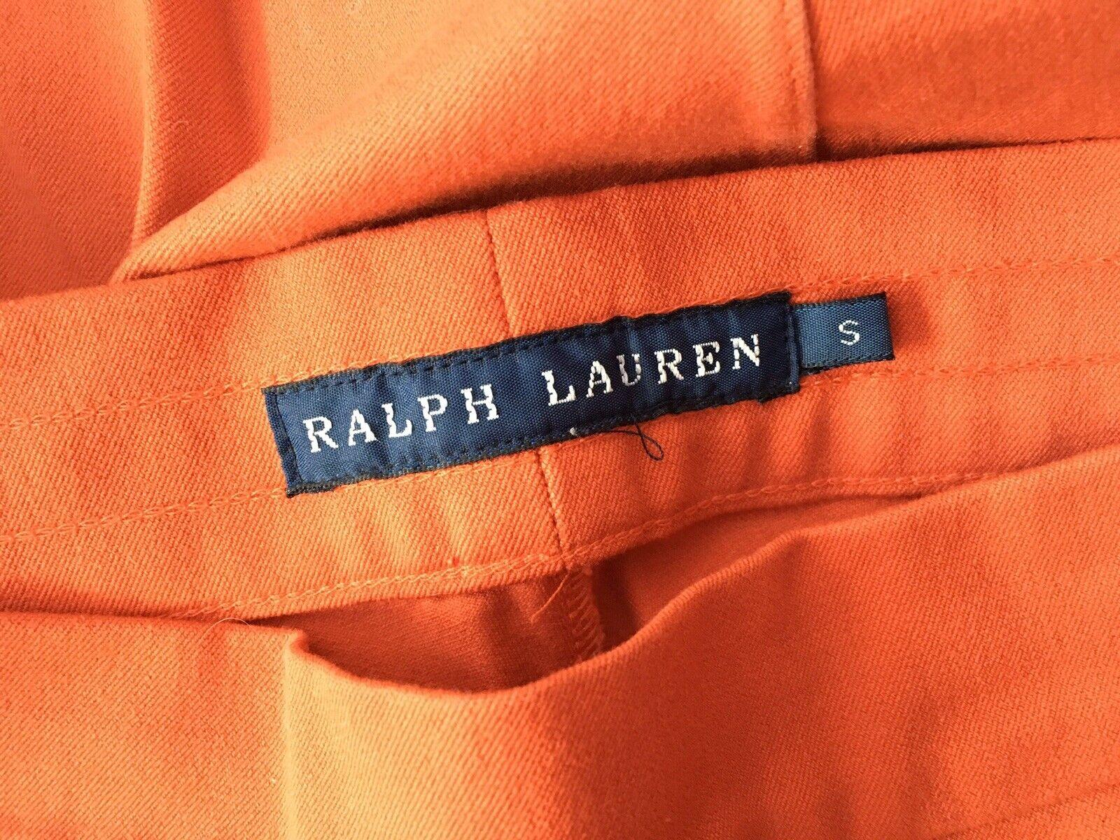 Ralph Lauren Lauren Lauren arancio brillante Slim Stretch Pants pantaloni Taglia S Small c9a08e
