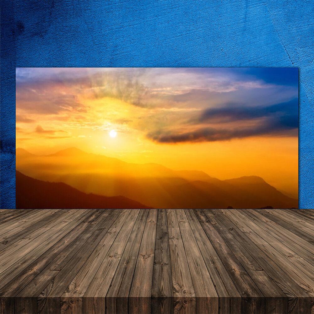 Crédence de cuisine en verre Panneau 120x60 Paysage Montagne