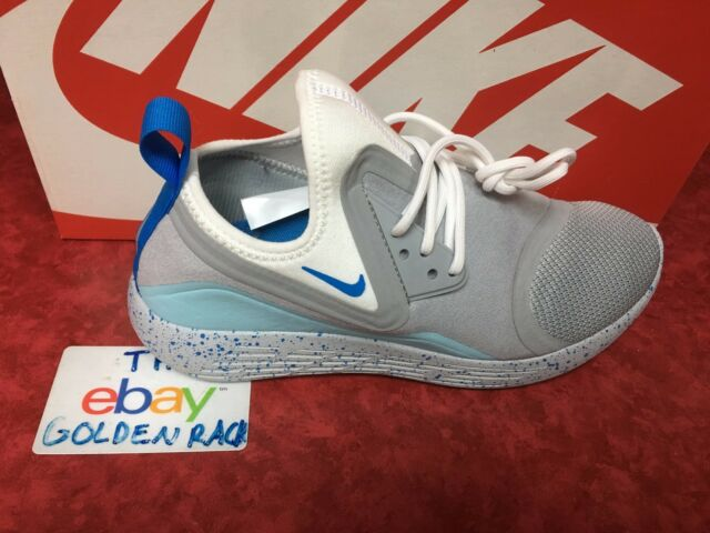 Nike Lunarcharge Bn 933797 014 Wolf Grey Photo Blue White Womens Size 7 5 8
