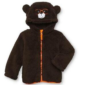 NWT Girl Toddler Brown TEDDY BEAR Coat Jacket Size 3T 4T ...