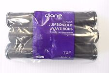 """Diane 1 1/4"""" Jumbo Cold Wave Rods Curlers Hair Perm #DCW125 6-pieces - Black"""