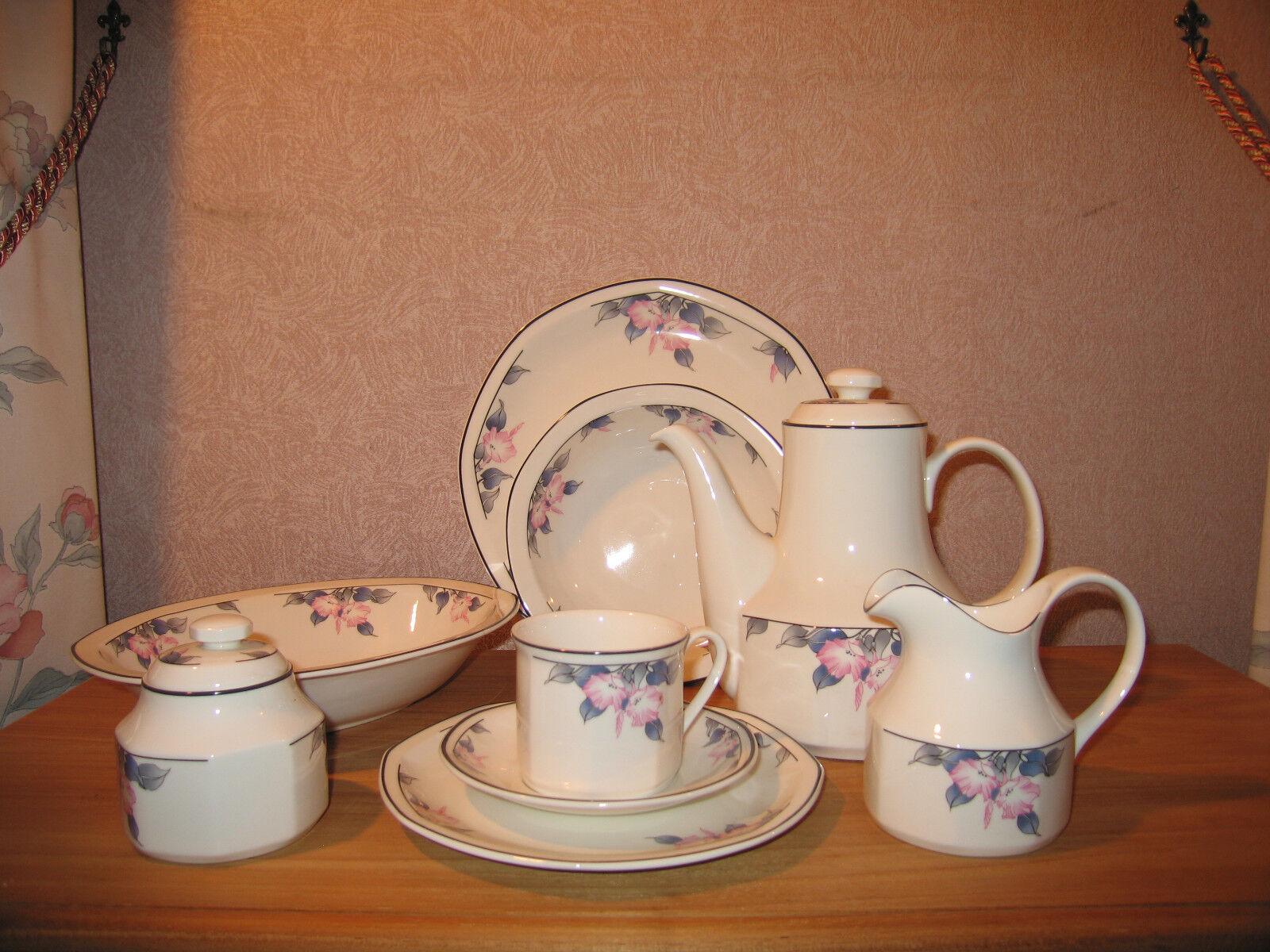 ROYAL DOULTON NEW BLOOMSBURY Set crémier + sucrier Set milk jug + sugar bowl