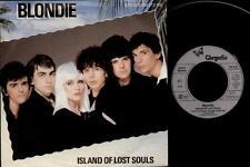"""BLONDIE Island Of Lost Souls  7"""" German Pressing Vinyl Single, B/W Dragonfly, 10"""