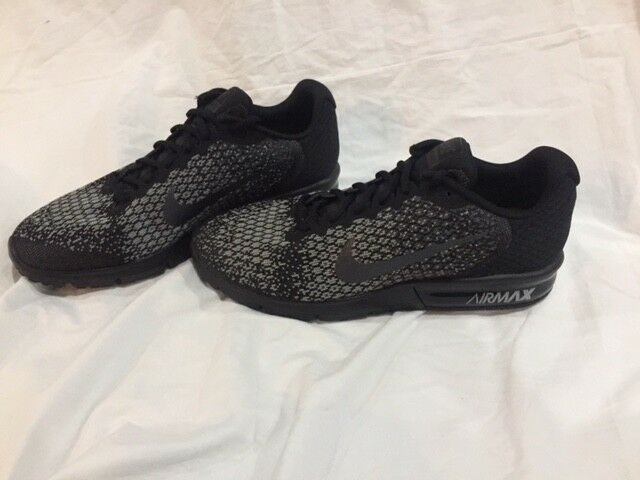 95c16167467 Nike Air Max Sequent 2 Black Black Black Grey 852461-001 NO BOX TOP 92d387