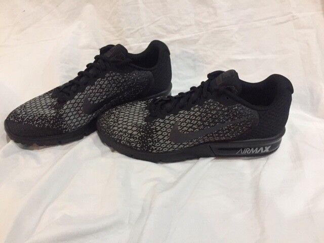 Nike Air 852461-001 Max Sequent 2 negro gris 852461-001 Air no Box Top 81a607