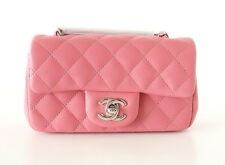 CHANEL bag classic flap ROSE mini lambskin NEW / box