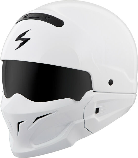 7c611188 Scorpion Covert Convertible Motorcycle Helmet Gloss White Large for ...