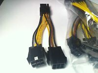 5 Pcs Dual 6 Pin To 8 Pin Pci E Video Card Power Cable, Original Pny