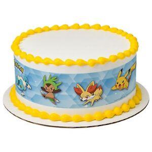 Licensed Edible Cake Images : Pokemon Licensed Birthday ~ Edible Cake Topper ~ 1/4 Sheet ...