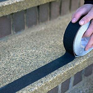 Nastro adesivo antiscivolo per scale in legno colore nero 25mm x 18 metri top !